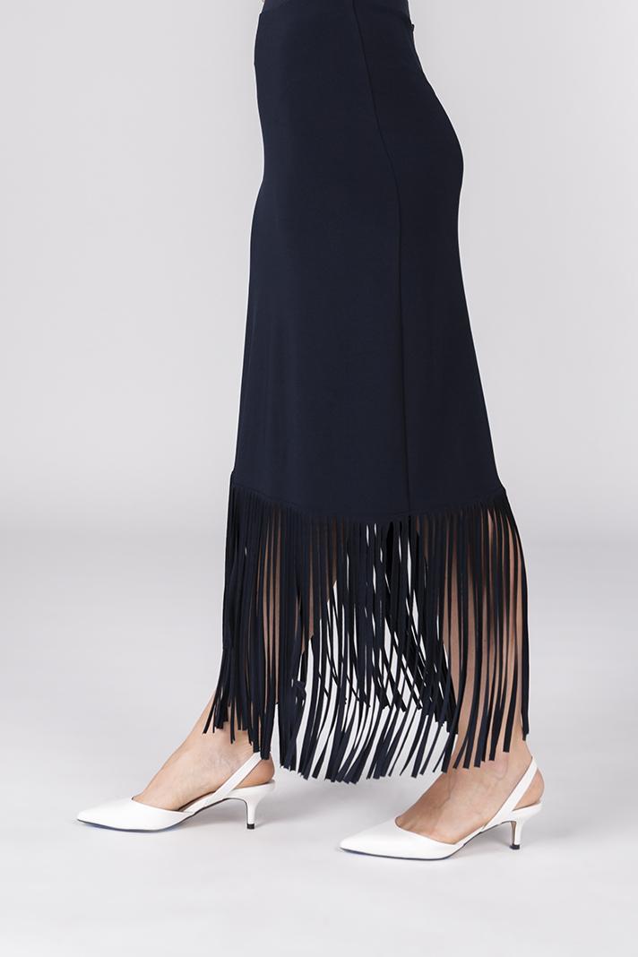fringe maxi skirt chicdoor