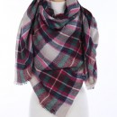 Wrapped In Plaid Scarf, Pink/Ivory Multi
