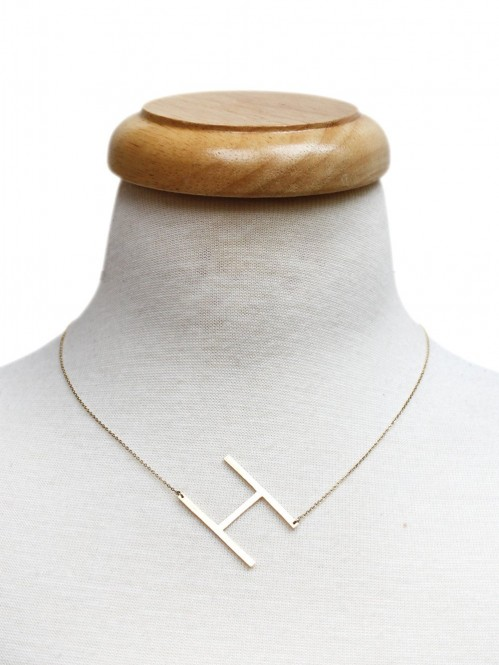 Ellison + Young: Monogram Collection Initial Necklace 2