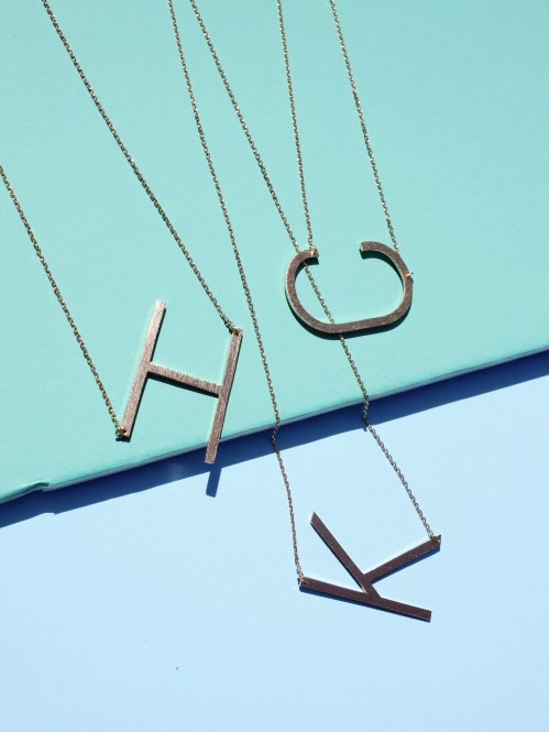 Ellison + Young: Monogram Collection Initial Necklace 4