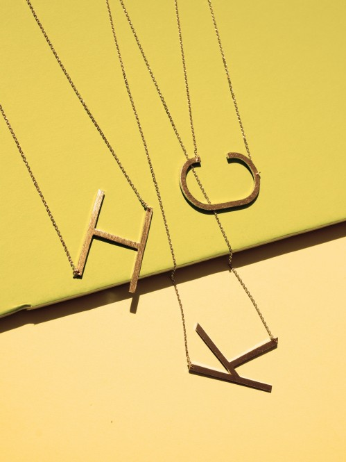 Ellison + Young: Monogram Collection Initial Necklace 3