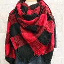 Buffalo Plaid Scarf in Black/Red