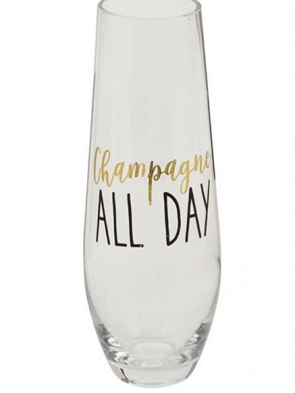 Bubbly Stemless Champagne Glass