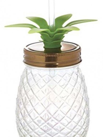 Clear Pineapple Shaped Sippers