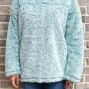 Cabin Lodge Fur Pullover in Seafoam 1