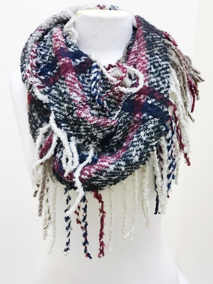 Mountain Wanderlust Scarf in Black Mix