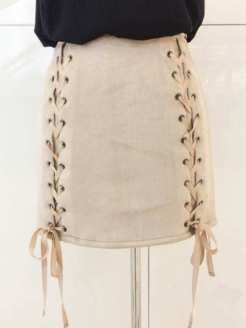 Front Lace Tie Skirt 1