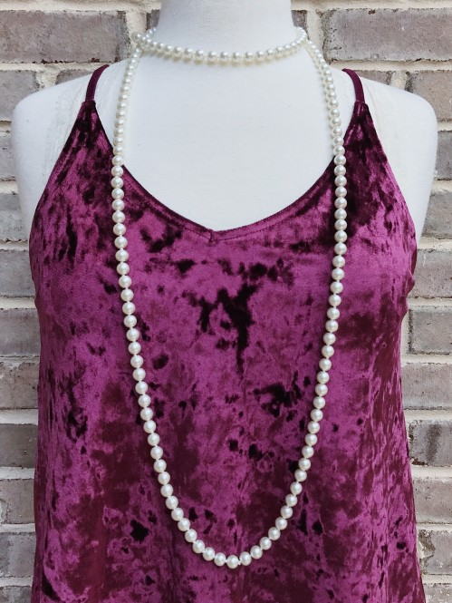 60″ Pearl Beaded Necklace 2