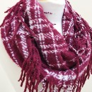 Mountain Wanderlust Scarf in Burgundy 2