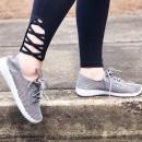 Be Easy Mesh Sneakers in Light Gray