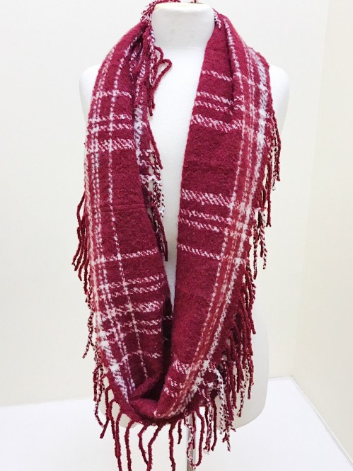 Mountain Wanderlust Scarf in Burgundy 1