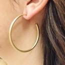 The Best Of Hoops Earrings, Matte Gold