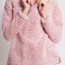 Cabin Lodge Fur Pullover in Pink
