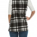 All Checked Out Vest in Black 2
