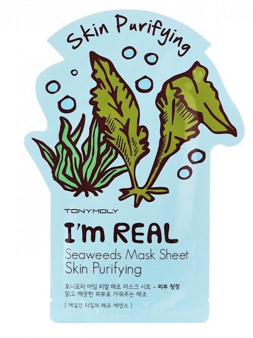 I'm Real Seaweeds Mask Sheet, Skin Purifying 1