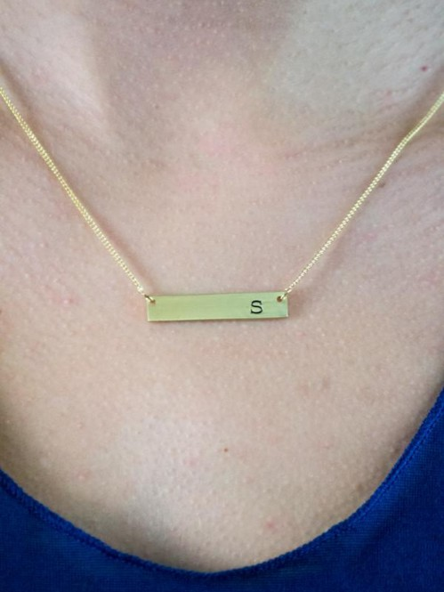 Chelsea Initial Bar Necklace 2