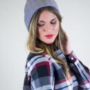 Ribbed Knit Beanie in Gray