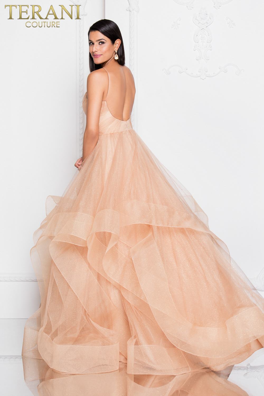 Stunning Sweetheart dress with bold skirt by Terani chicdoor.com