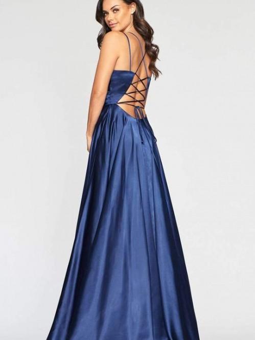 faviana-s10429-v-neck-pleated-bodice-lace-up-back-satin